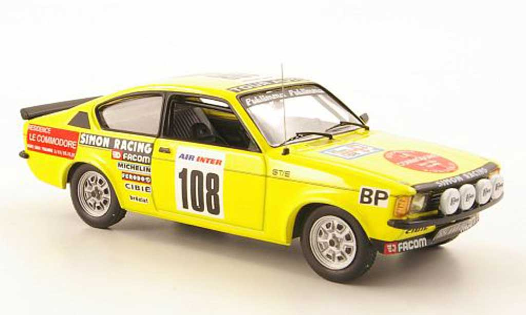 Opel Kadett C 1/43 IXO GT/E Coupe No.108 Tour de France Auto 1979 miniature