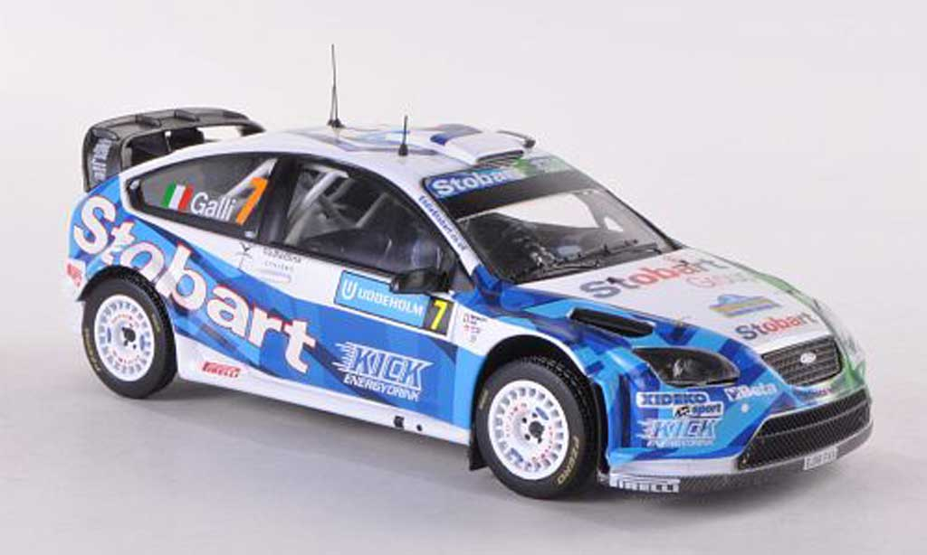 Ford Focus RS WRC 1/43 IXO 07 No.7 Stobart Rally Schweden  2008 Galli/Bernacchini miniature