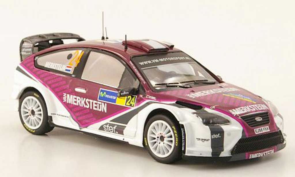 Ford Focus RS WRC 1/43 IXO 07 No.24 Rally Spanien 2008 miniature
