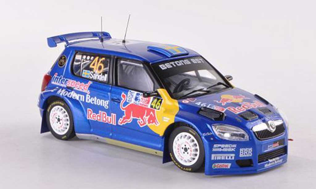 Skoda Fabia S2000 1/43 IXO No.46 Red Bull Rally Norwegen  2009 Sandell/Axelsson miniature