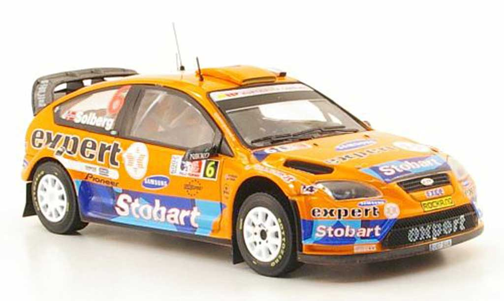 Ford Focus RS WRC 1/43 IXO 08 No.6 Stobart Rally Norwegen 2009 miniature