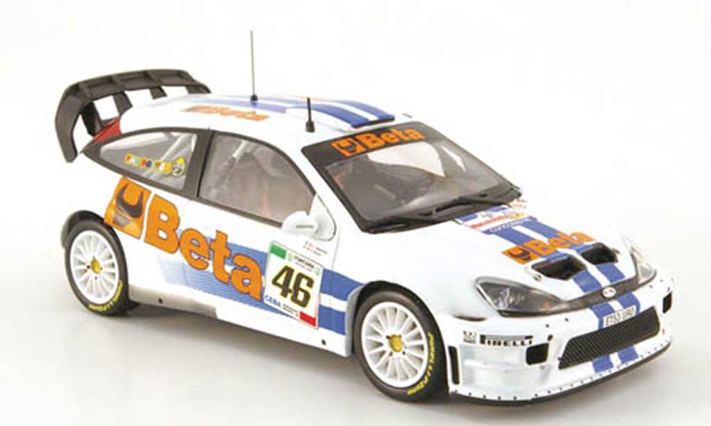 Ford Focus RS WRC 1/43 IXO 07 No.46 Beta Rally Monza 2007 miniature
