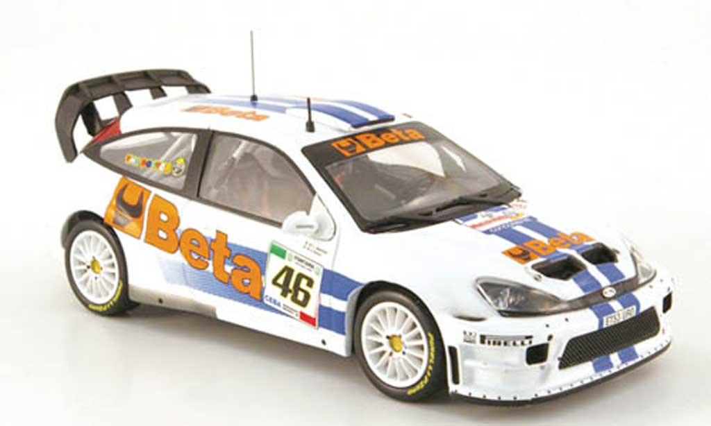 Ford Focus RS WRC 1/43 IXO 07 No.46 Beta Rally Monza 2007 miniatura