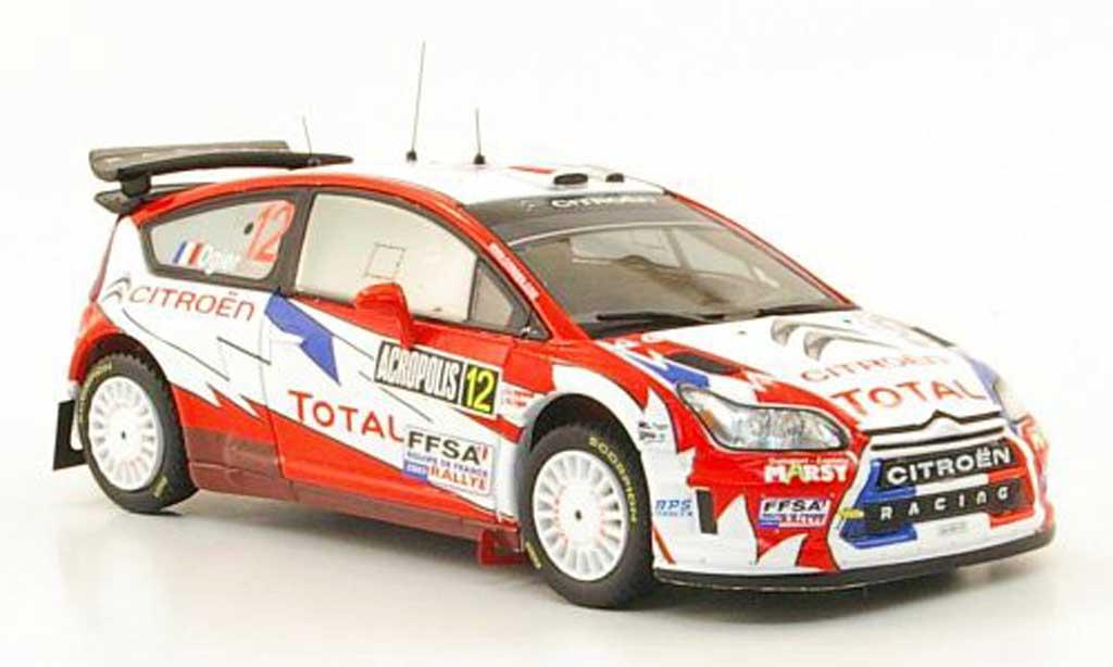 Citroen C4 WRC 2009 1/43 IXO No.12 Total Rally Griechenland miniature