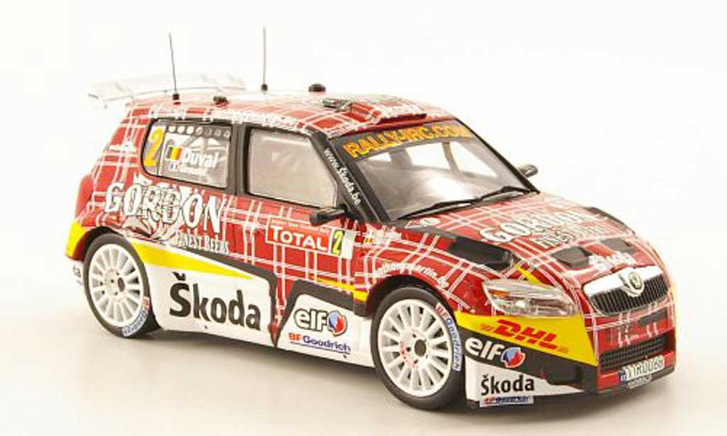 Skoda Fabia S2000 1/43 IXO No.2 Gordon IRC Rally Ypern 2009 miniature