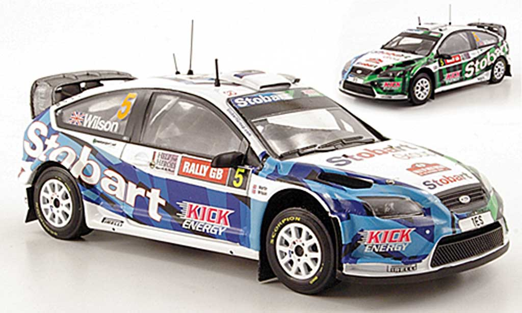 Ford Focus RS WRC 1/43 IXO 08 No.5 Stobart Rally Wales 2009 miniature