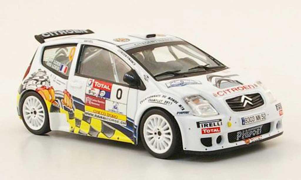 Citroen C2 S1600 1/43 IXO No.0 Rally Chablais  2009 S.Loeb miniatura