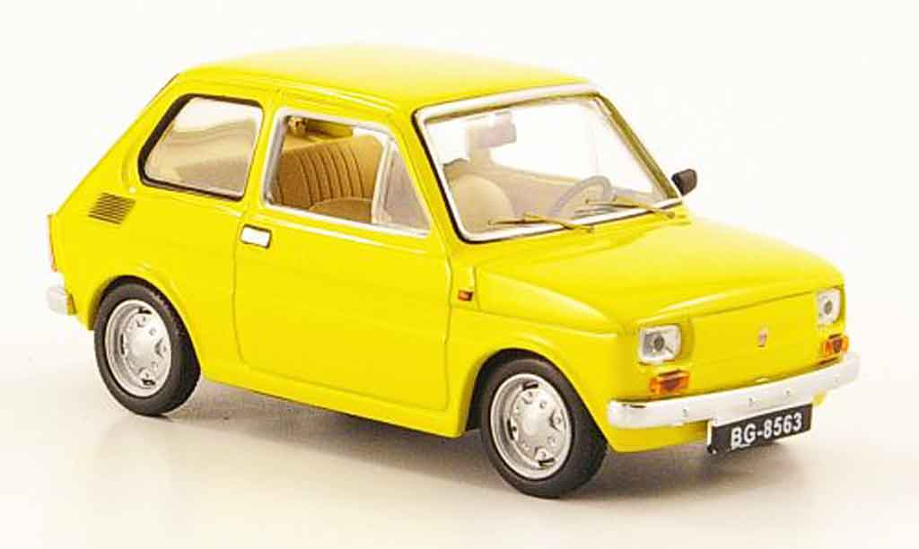 Fiat 126 1/43 IST Models Polski 126P yellow 1973 diecast