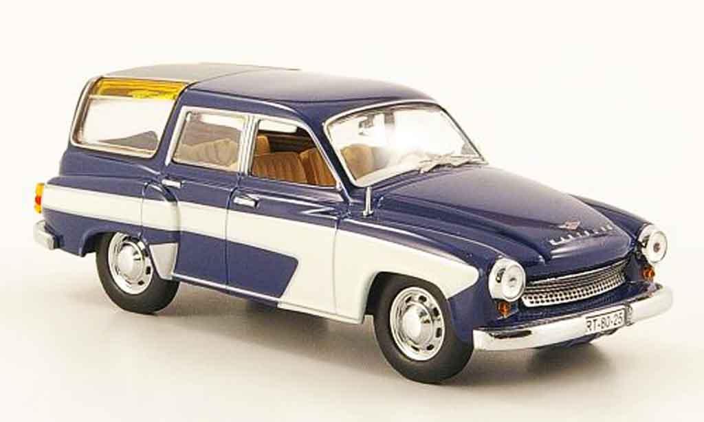 Wartburg 311 1/43 IST Models Camping bleu blanche 1960 miniature