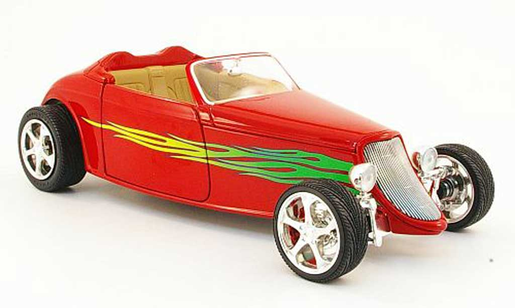 Ford Hot Rod 1/18 Yat Ming convertible rouge avec flammendekor offen 1933 miniature