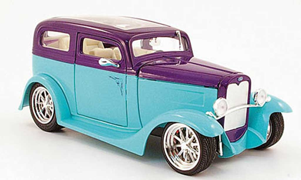 Ford Model A 1/18 Yat Ming Sedan turquoise/lila mit Panoramadach  1931 miniature