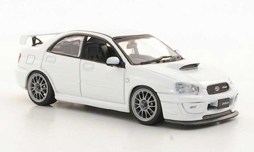 Subaru Impreza 1/43 J Collection S203 blanche RHD 2005 miniature