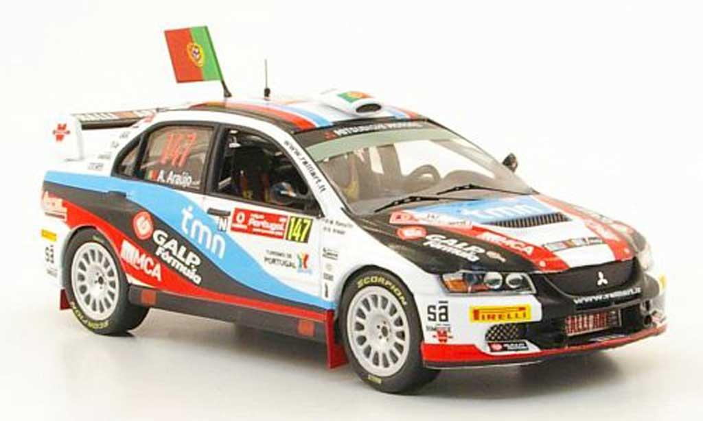 Mitsubishi Lancer Evolution IX 1/43 IXO No.147 Rally Portugal 2009 miniature