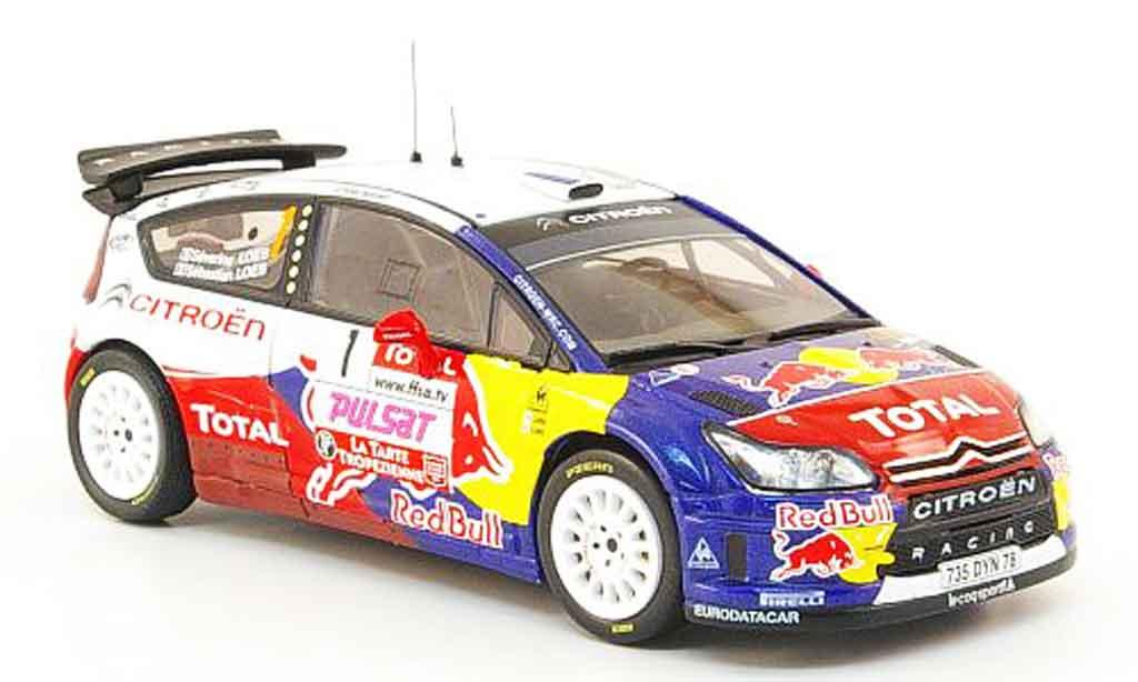 Citroen C4 WRC 2009 1/43 IXO no.1 loeb loeb rallye du var diecast model cars