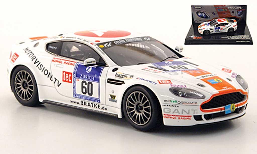Aston Martin V8 1/43 Minichamps GT4 No.60 Team Bratke Motorsport 24h Nurburgring 2010 miniature