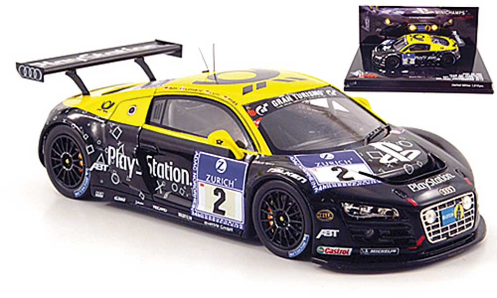 Audi R8 LMS 1/43 Minichamps No.2 Team Abt24h Nurburgring 2010 diecast model cars