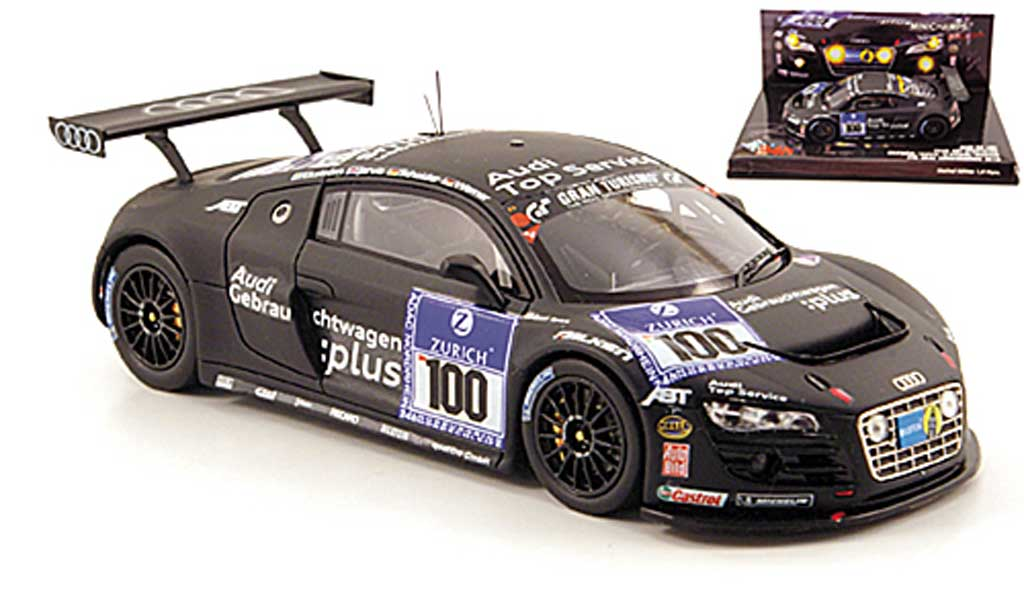 Audi R8 LMS 1/43 Minichamps No.100 Team Abt 24h Nurburgring 2010 miniature