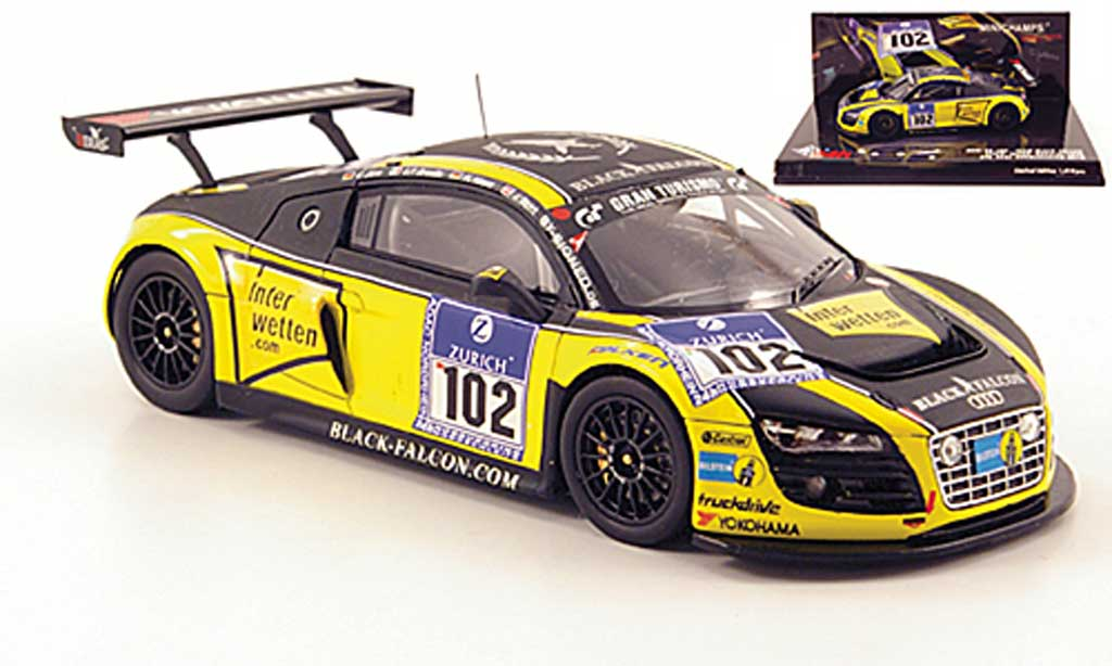 Audi R8 LMS 1/43 Minichamps No.12 Team Black Falcon 24h Nurburgring 2010 diecast model cars