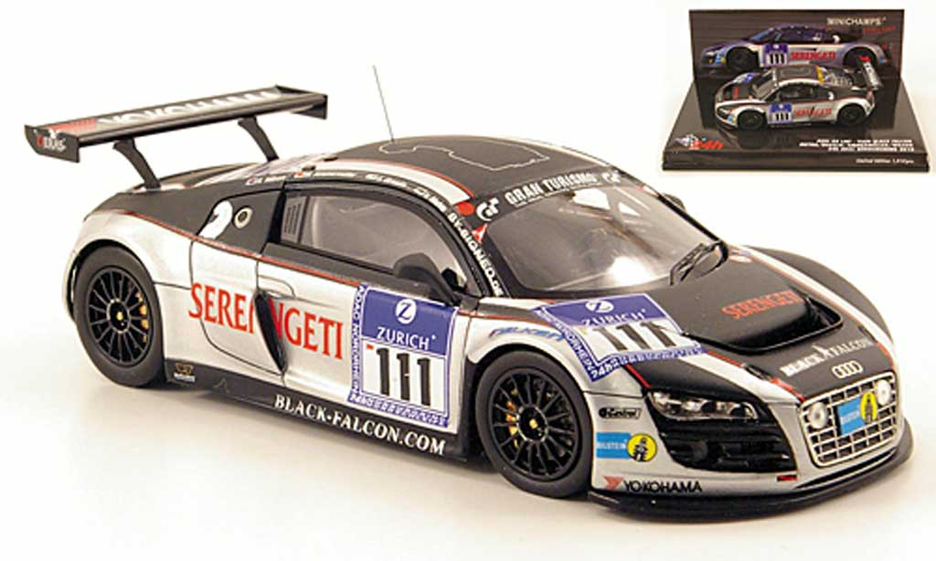 Audi R8 LMS 1/43 Minichamps No.111 Black Falcon 24h Nurburgring 2010 diecast model cars