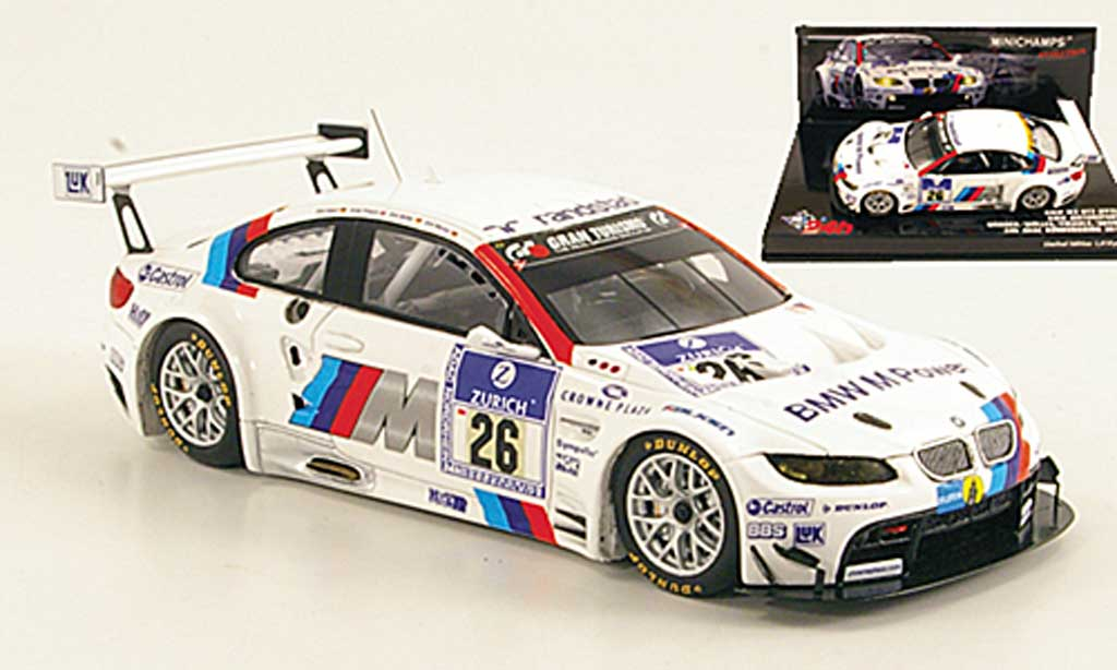 Bmw M3 E92 1/43 Minichamps GT2 No.26 Motorsport 24h ADAC Nurburgring 2010 miniature