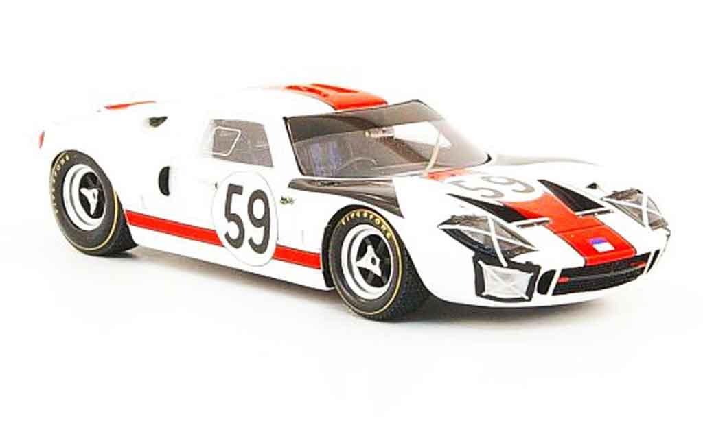 Ford GT 40 1/43 Bizarre GT40 No.59 24h Le Mans 1966 miniatura
