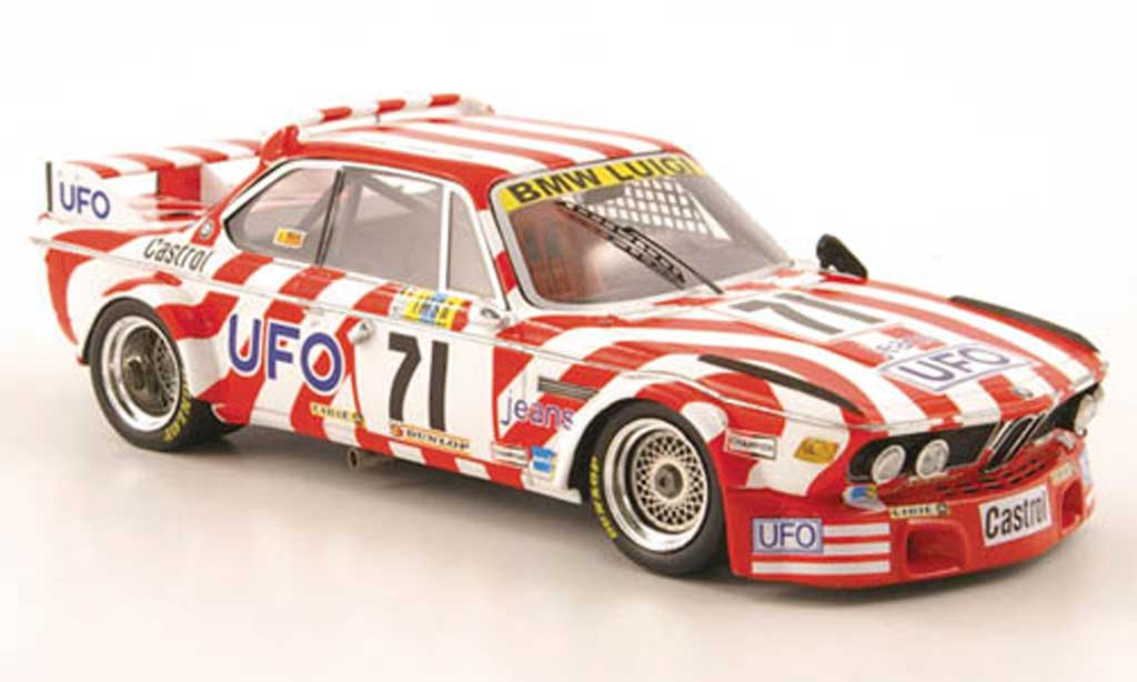 Bmw 3.0 CSL 1/43 Spark No.71 UFO 24h Le Mans 1977 diecast model cars