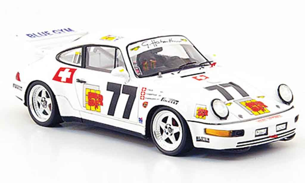 Porsche 993 RSR 1/43 Spark 964 RSR Carrera No.77 24h Le Mans 1 miniature