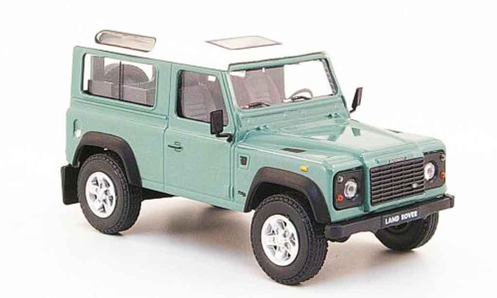 Land Rover Defender 1/43 Cararama grun blanche miniature