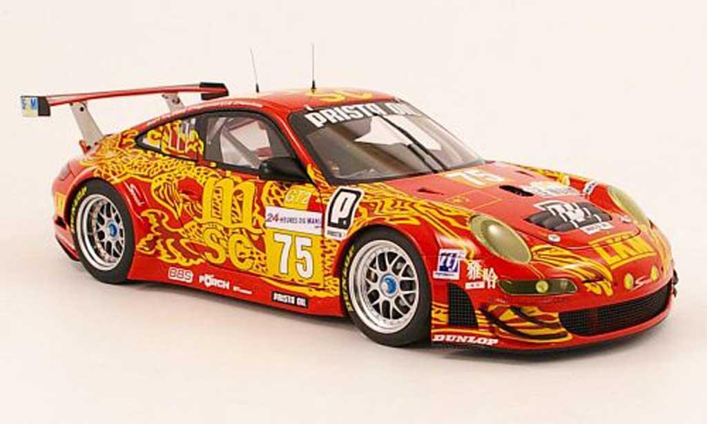 Porsche 997 GT3 RSR 1/18 Autoart 2009 no.75 fia gt le mans d.o'young / p.hesnault / p.kralev diecast model cars