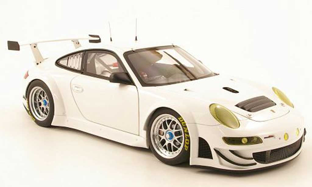 Porsche 997 GT3 RSR 1/18 Autoart 2009 white plain body diecast model cars