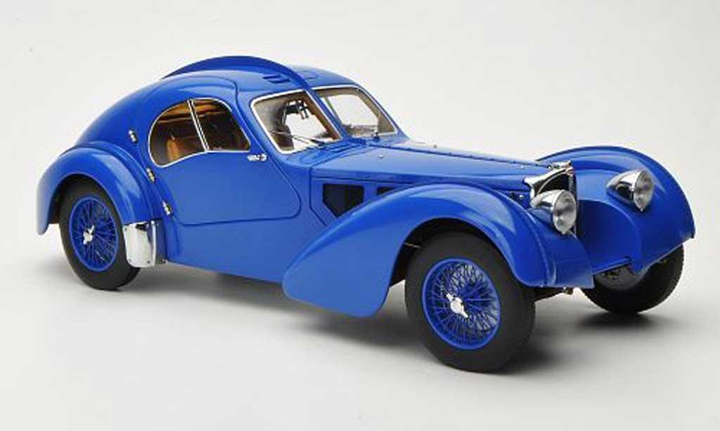 Bugatti 57 S 1/18 Autoart Atlantic bleu 1938 miniature