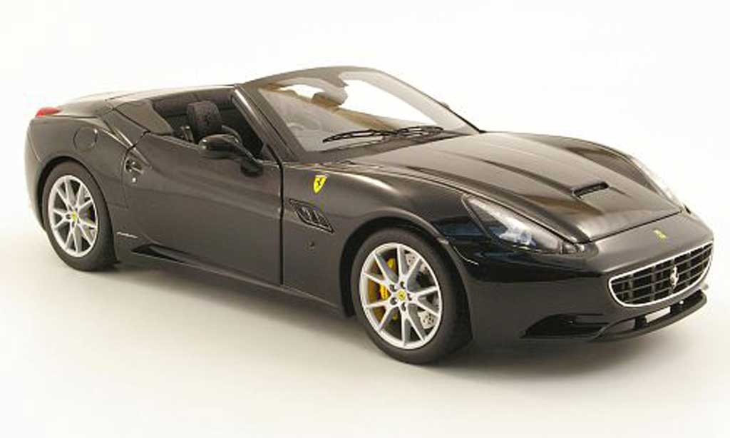 Ferrari California 2008 1/18 Hot Wheels 2008 noire george michael miniature