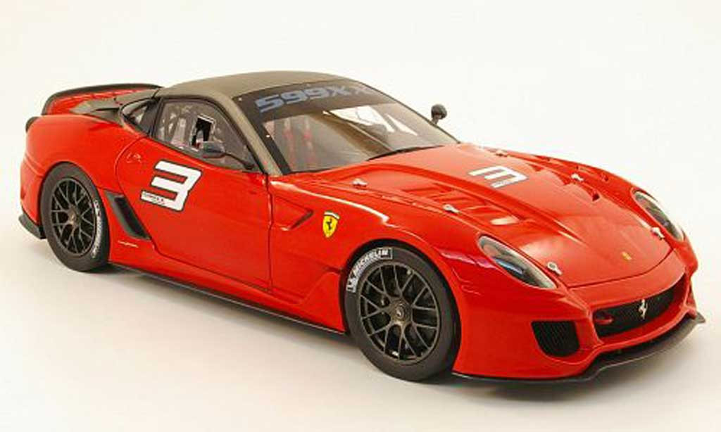 Ferrari 599 XX 1/18 Hot Wheels Elite no3 red/gray diecast