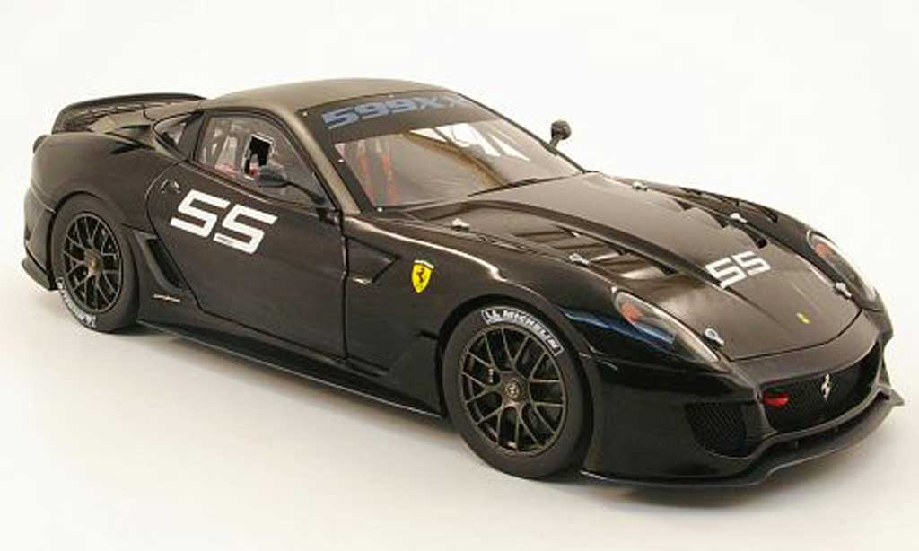 Ferrari 599 XX 1/18 Hot Wheels Elite no55 noir/grey diecast model cars