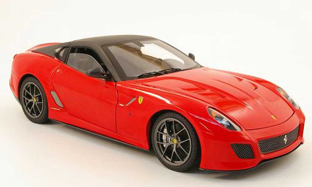 Ferrari 599 GTO 1/18 Hot Wheels Elite rouge/noir miniature