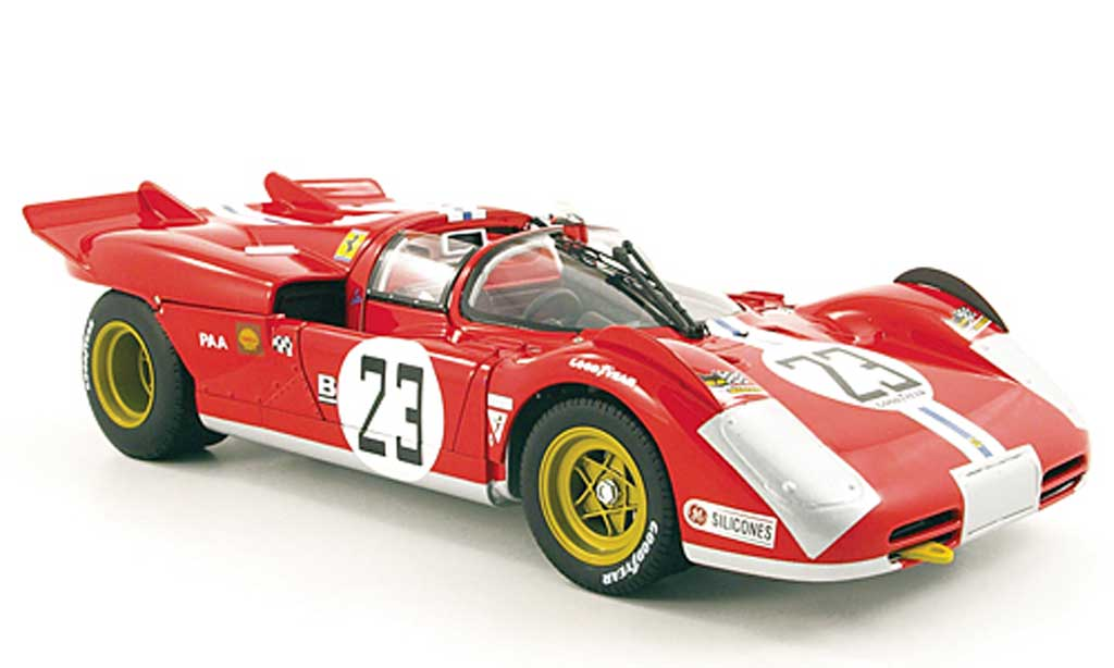 Ferrari 512 S 1/18 Hot Wheels Elite no.23 n.a.r.t. bucknum/adamovicz 24h daytona 1971 miniature