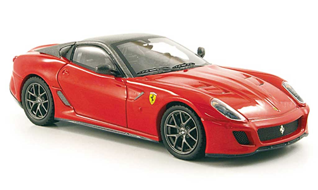 Ferrari 599 GTO 1/43 Hot Wheels Elite rouge/grise (Elite) miniature