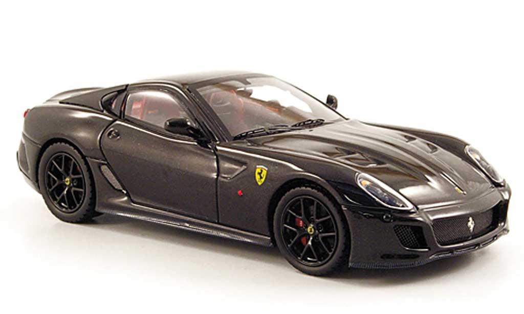 Ferrari 599 GTO 1/43 Hot Wheels Elite noire (Elite) miniature