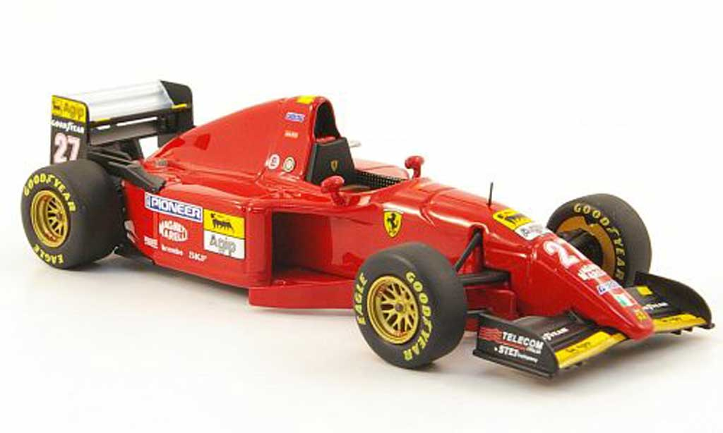 Ferrari 412 1/43 Hot Wheels Elite T2 No.27 J.Alesi GP Europa (Elite) 1995 modellino in miniatura