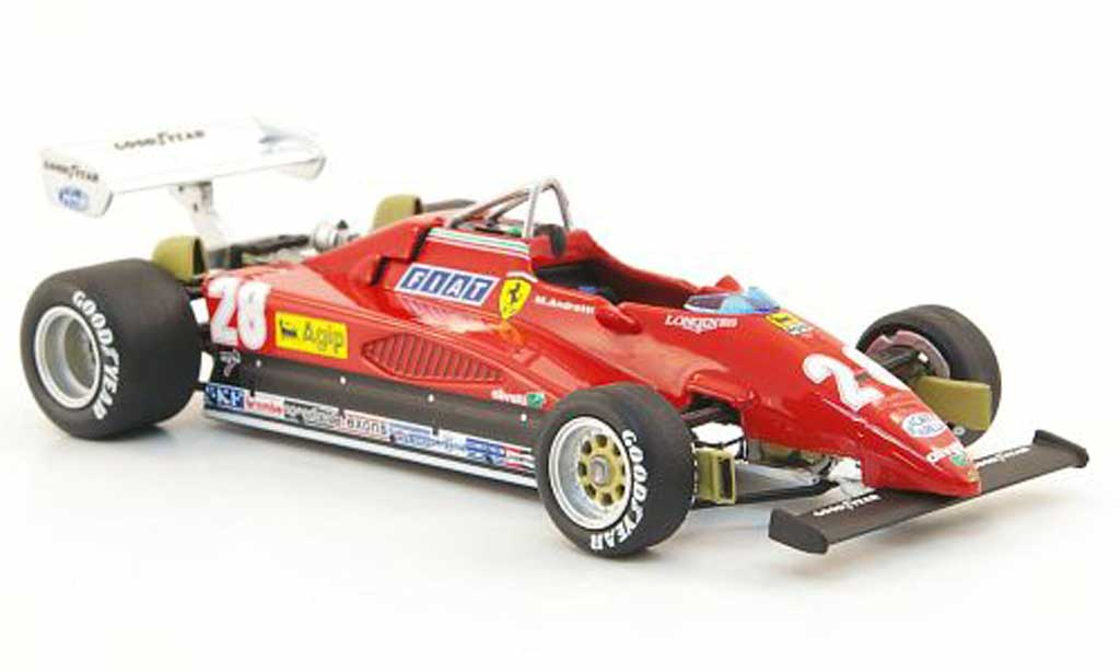 Ferrari 126 1982 1/43 Hot Wheels Elite C2 No.28 M.Andretti GP Italien (Elite) miniature