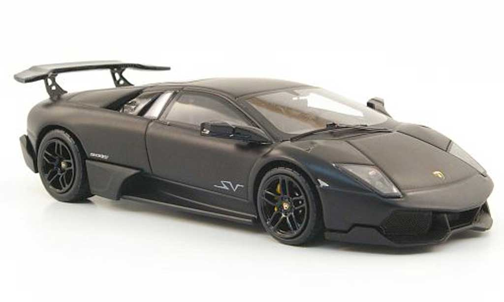 Lamborghini Murcielago LP670 1/43 Hot Wheels Elite SV mattnoire (Elite) miniature