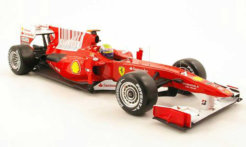 Ferrari F1 F2010 1/18 Hot Wheels f10 no.7 santander gp bahrain 2010 diecast model cars