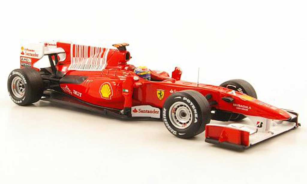 Ferrari F1 2010 1/43 Hot Wheels Elite F10 No.7 F.Massa GP Bahrain (Elite) miniature