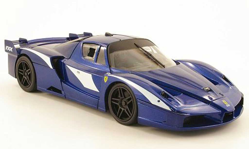 Ferrari Enzo FXX 1/18 Hot Wheels evoluzione bleu diecast model cars
