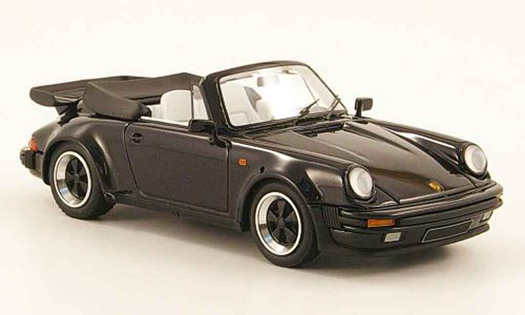 Porsche 911 Turbo 1/43 Look Smart Carrera Cabriolet (Turbo Look) noire miniature