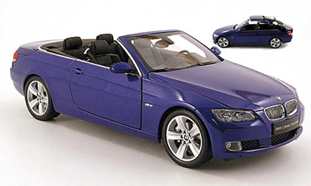 Bmw 335 1/18 Kyosho i cabriolet (e93) bleu miniature