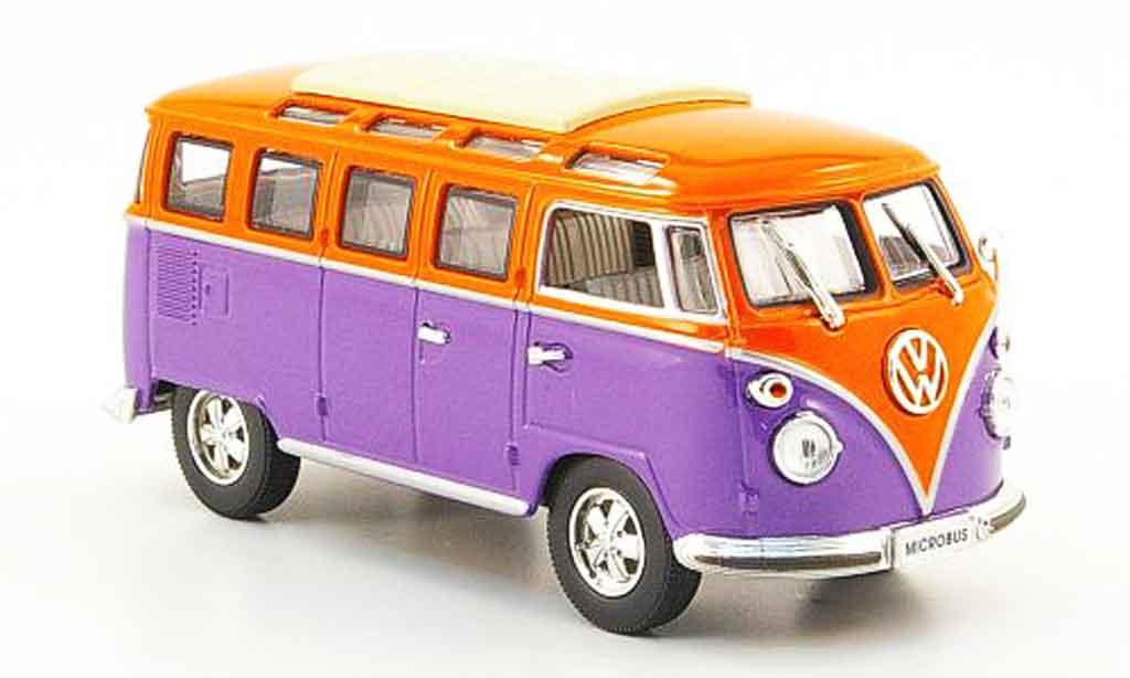 Volkswagen Combi 1/43 Yat Ming t1 samba lila orange 1962 diecast
