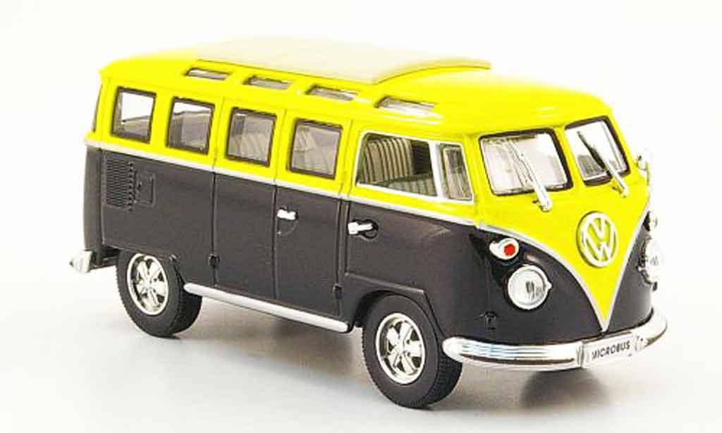 Volkswagen Combi 1/43 Yat Ming t1 samba black yellow 1962 diecast