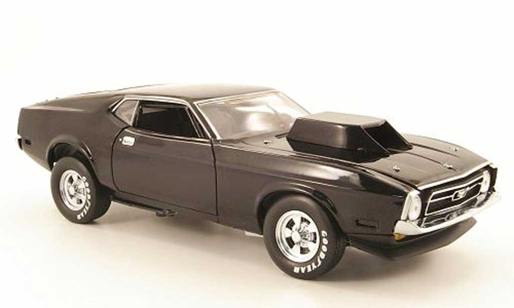 Ford Mustang 1971 1/18 Sun Star pro stock drag car noire miniature
