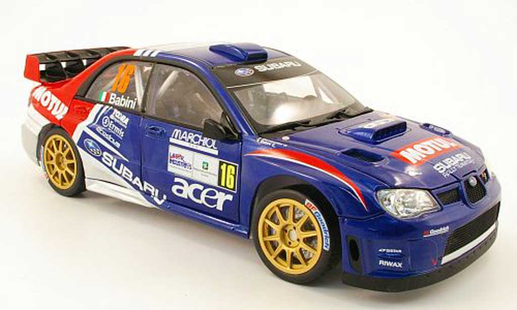 Subaru Impreza WRC 1/18 Sun Star 07 no16 motul rallye monza 2009 fbabini / gbernacchini miniature